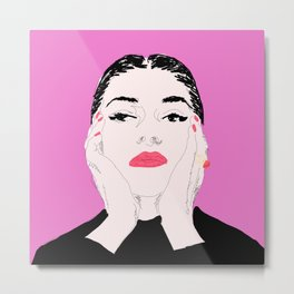 Pop Marica Callas - Pink Metal Print