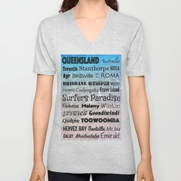 Queensland Poster Unisex V-Neck