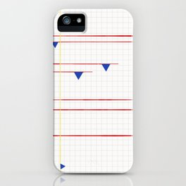 Primary on a Grid iPhone Case
