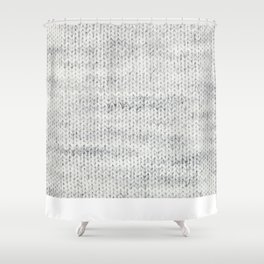 Gray Wool Shower Curtain