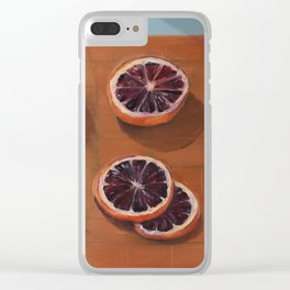 Blood Orange Dissection Clear iPhone Case