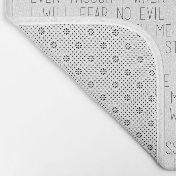 Psalm 23 #minimalist Bath Mat