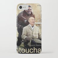 """putin iPhone & iPod Cases featuring Putin And Obama in """"Les Intouchables"""" by Luigi Tarini"""