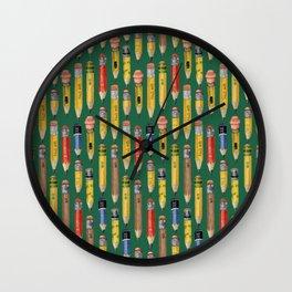 Little Pencils Green Wall Clock