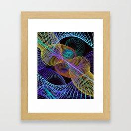 Geo Lines Framed Art Print