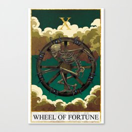 Tarot - Wheel of Fortune Canvas Print