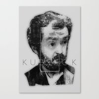 kubrick Canvas Prints featuring kubrick by Levvvel