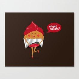 Cheeky Cupcake! Canvas Print