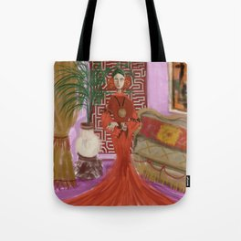 """MARUSHKA, HOME ON TUESDAY EVENING"" Tote Bag"