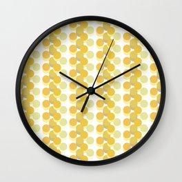 Refreshing Yellow Vintage 70s Geometric Pattern Circles Wall Clock