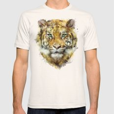 Tiger // Strength Mens Fitted Tee Natural MEDIUM