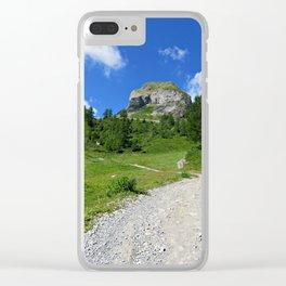 Swiss alpine landscape Clear iPhone Case
