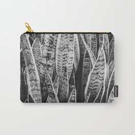 Plant Photography Tropical Exotic Plants Snake Plant Tongue Beauty Wild Nature Black and White Carry-All Pouch