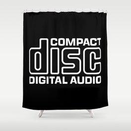 Compact Disk Digital Audio Logo - White Shower Curtain