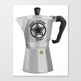 Most Coffee Wins Canvas Print