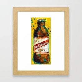 Red Stripe Jamaican Style Lager Beer Framed Art Print