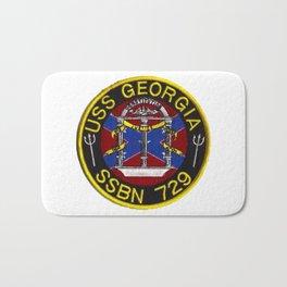 USS GEORGIA (SSBN-729) PATCH Bath Mat