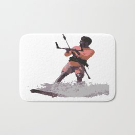 Board Out Of Your Mind Kitesurf Vector Bath Mat