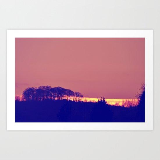 Pink Distance Land Art Print
