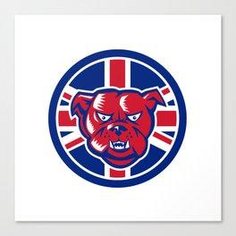 British Bulldog Union Jack Flag Icon Canvas Print