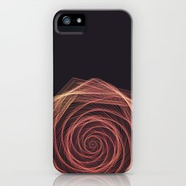 Geometric Rose iPhone Case