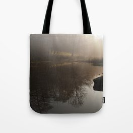 Foggy Morning in the Forest Tote Bag