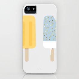 Icecream yellow grey iPhone Case