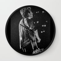 niall Wall Clocks featuring Niall by Drawpassionn