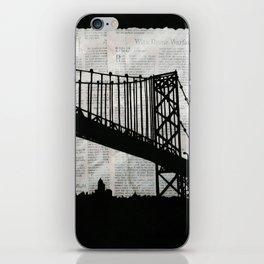 News Feed , Newspaper Bridge Collage iPhone Skin