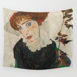 Portrait of Wally by Egon Schiele Wall Tapestry