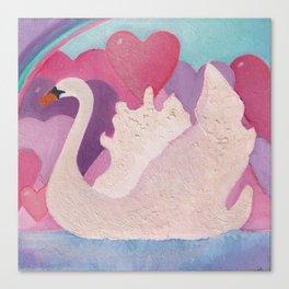 Iced Swan Canvas Print