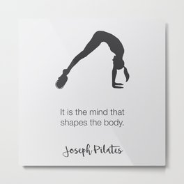 Pilates Inspiration Metal Print