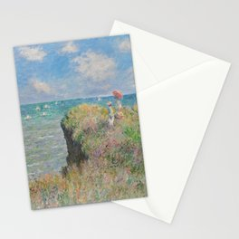 Cliff Walk at Pourville - Claude Monet Stationery Cards