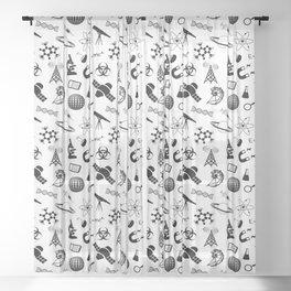 Symbols of Science Sheer Curtain