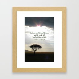 Let the light shine Framed Art Print