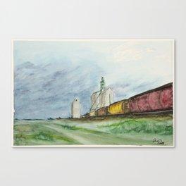 Prairie Train Canvas Print