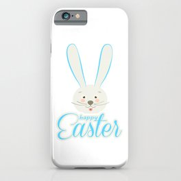 Cute Bunny Ears Happy Easter Egg Hunt Abstract iPhone Case
