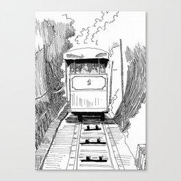 Funicular in Santiago Canvas Print
