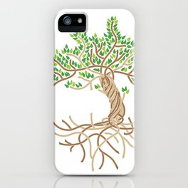 Rope Tree of Life. Rope Dojo 2017 white background iPhone Case