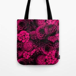 Moody Florals in Magenta Tote Bag
