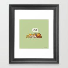 Lion Cuddle Framed Art Print