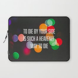 To die by your side Laptop Sleeve