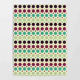 Peacock Polka Dot Pattern Poster