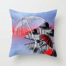 umbrella time -05- Throw Pillow