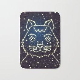 Cat and Stars Bath Mat