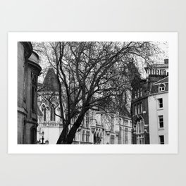 Into the trees 07 - Royal Courts of Justice Art Print