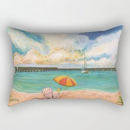 Seven Mile Bridge Rectangular Pillow