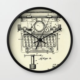 Typewriter-1941 Wall Clock
