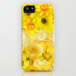 Yellow Rose Bouquet with Gerbera Daisy Flowers iPhone Case