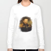 replaceface Long Sleeve T-shirts featuring Ricky Gervais - replaceface by replaceface